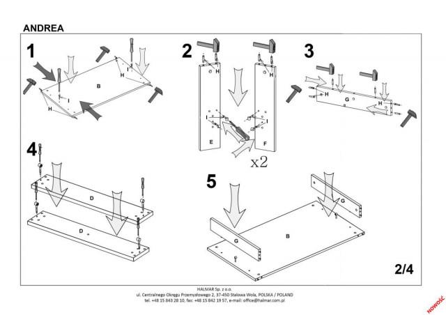 Konferenční stolek Andrea č.9