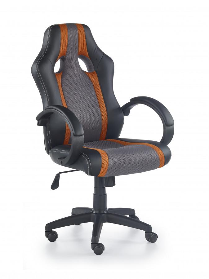 Halmar Kancelářské křeslo Radix, šedo-oranžové