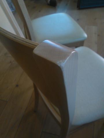 Jídelní židle Comfort koženka Maracaibo crema/buk - II. jakost č.4