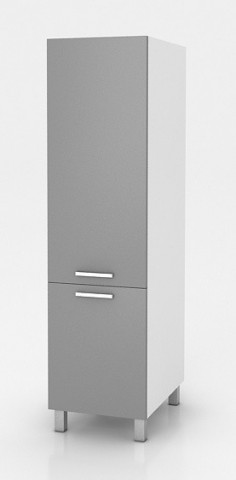 Vysoká kuchyňská skříňka Natanya SL60 šedý lesk