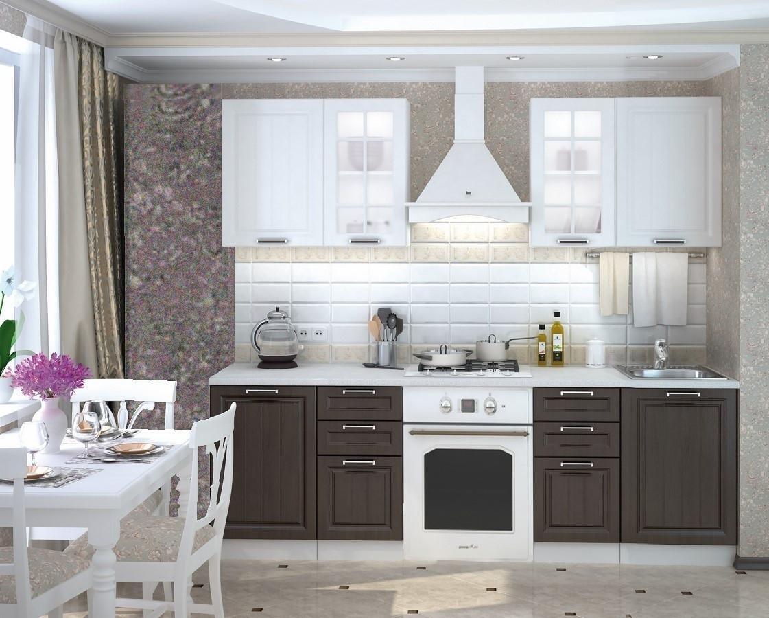 Casarredo Kuchyně PRAGA 180 - bílá/wenge