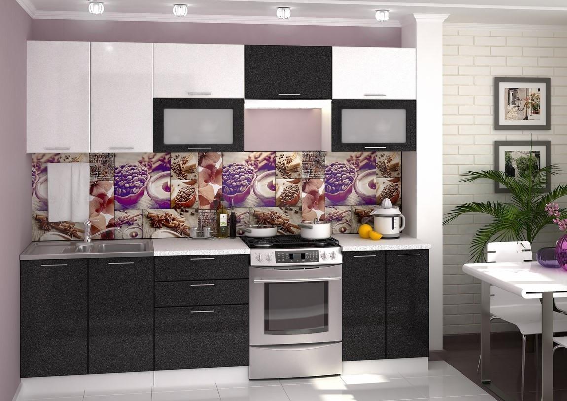 Casarredo Kuchyně VALERIA 260 - bílá/černý metalic