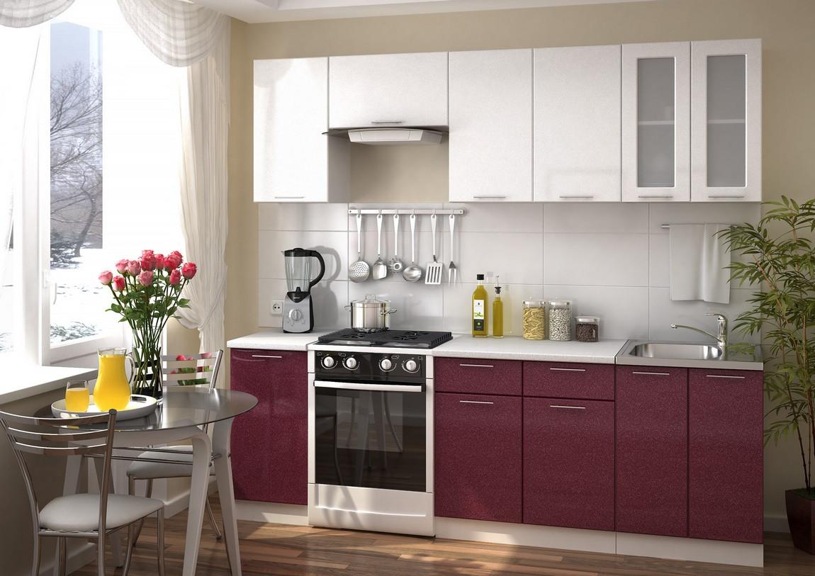 Casarredo Kuchyně VALERIA 240 - bílá/granát metalic