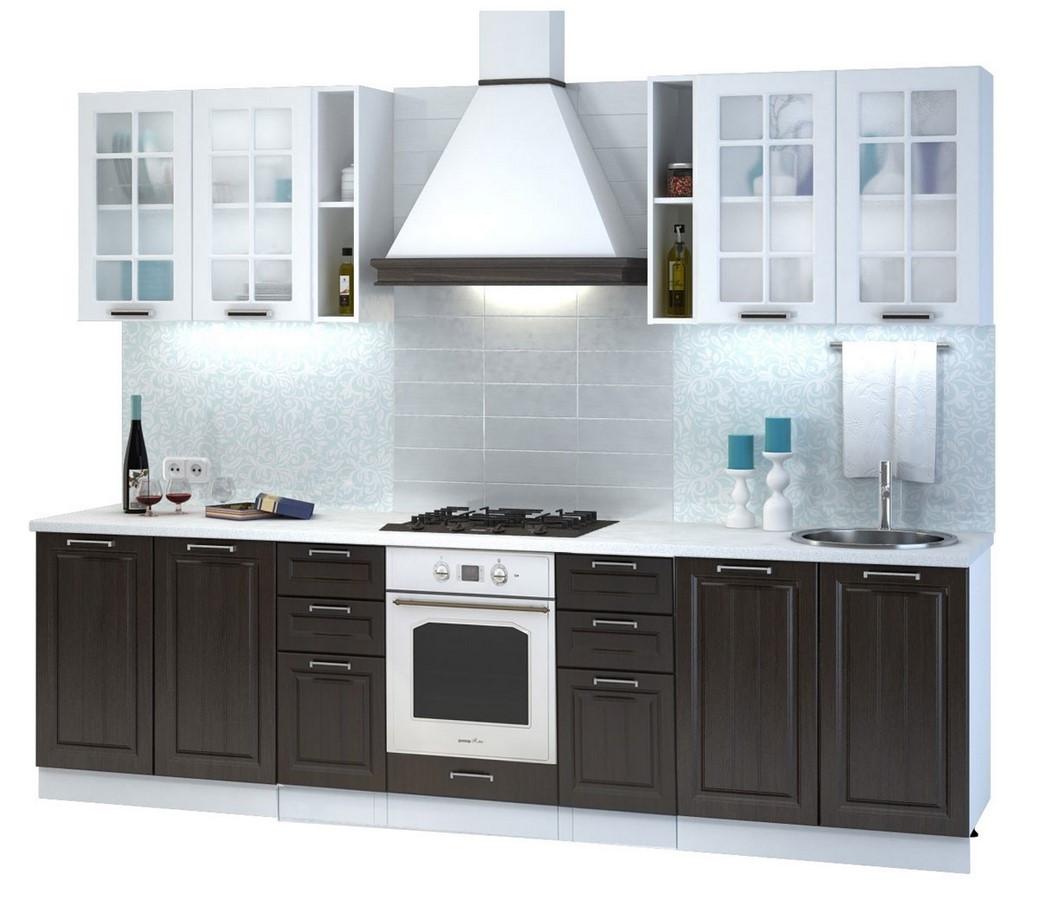 Casarredo Kuchyně PRAGA 280 I bílá/wenge