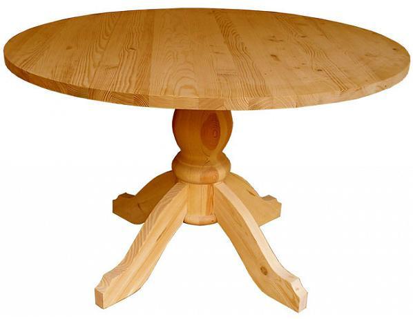 Stůl dřevěný 00446 kulatý
