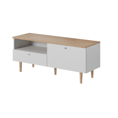 RTV stolek Lavele LRTV150 - bílá / buk pískový