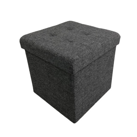Taburet FALON - tmavě šedý