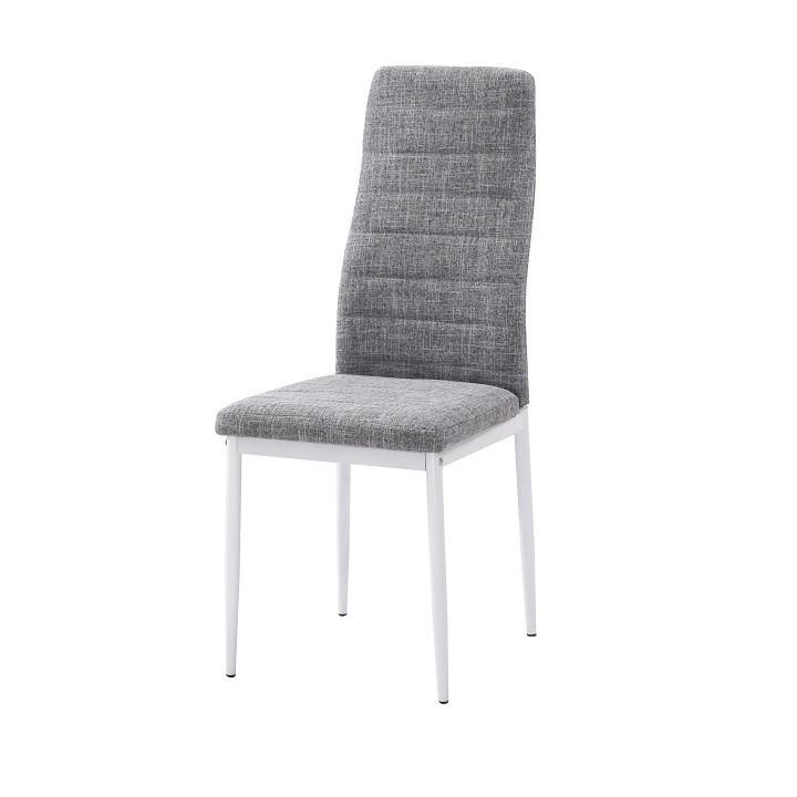 Tempo Kondela Židle COLETA NOVA - světle šedá látka / bílý kov + kupón KONDELA10 na okamžitou slevu 3% (kupón uplatníte v košíku)