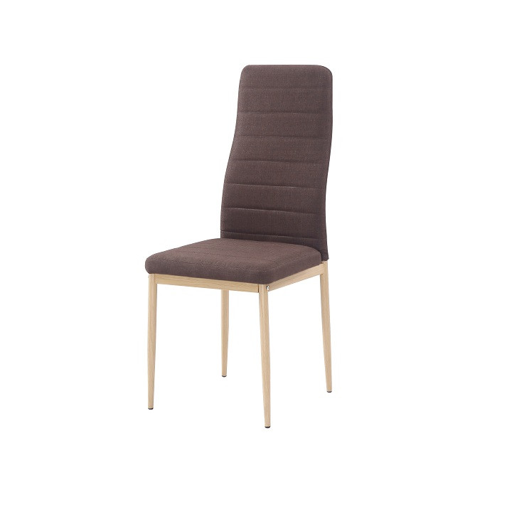Tempo Kondela Židle COLETA NOVA - tmavě hnědá látka / kov + kupón KONDELA10 na okamžitou slevu 3% (kupón uplatníte v košíku)