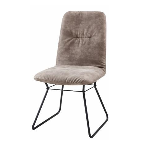 Moderní židle ALMIRA - šedá látka / černý kov