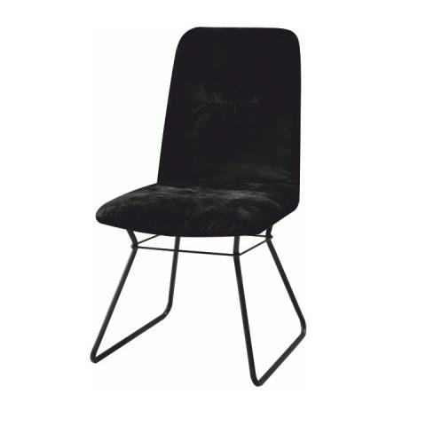 Moderní židle ALMIRA - černá látka / kov
