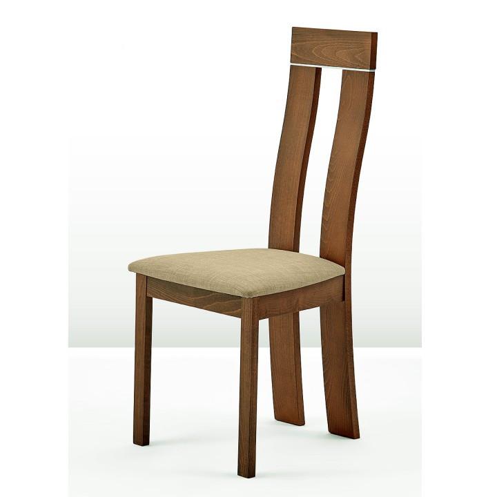 Tempo Kondela Dřevěná židle DESI - třešeň/látka hnědá + kupón KONDELA10 na okamžitou slevu 3% (kupón uplatníte v košíku)