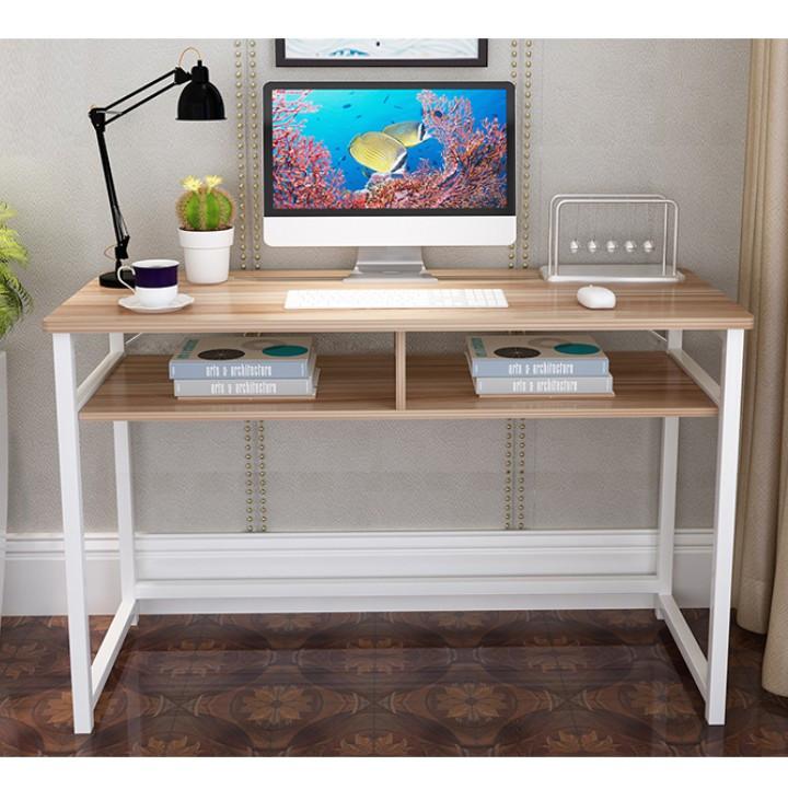 Tempo Kondela PC stůl, světlý ořech / bílá, HARALD + kupón KONDELA10 na okamžitou slevu 3% (kupón uplatníte v košíku)