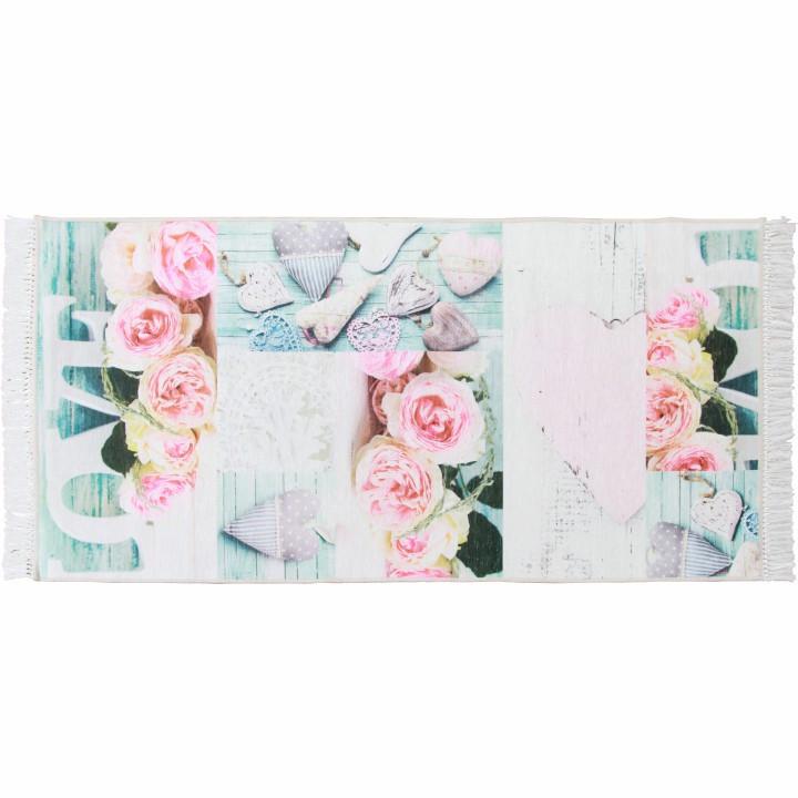 Tempo Kondela Koberec SONIL TYP 2 80x150 - vzor růže + kupón KONDELA10 na okamžitou slevu 3% (kupón uplatníte v košíku)