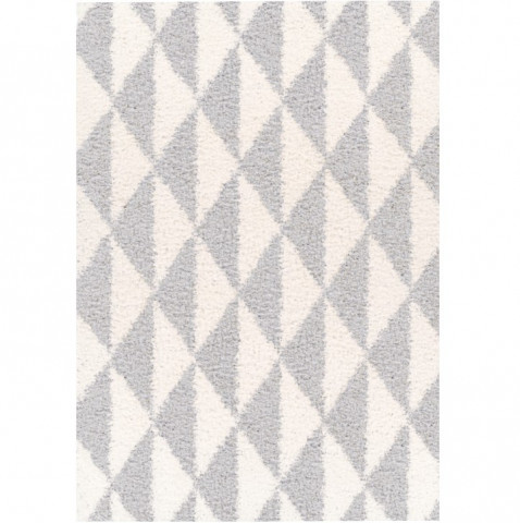 Koberec PIXEL, 133x190 - krémová / šedá / geometrický vzor