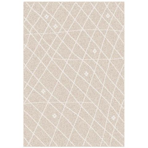 Koberec TYRON, 133x190 - béžovobílá / vzor