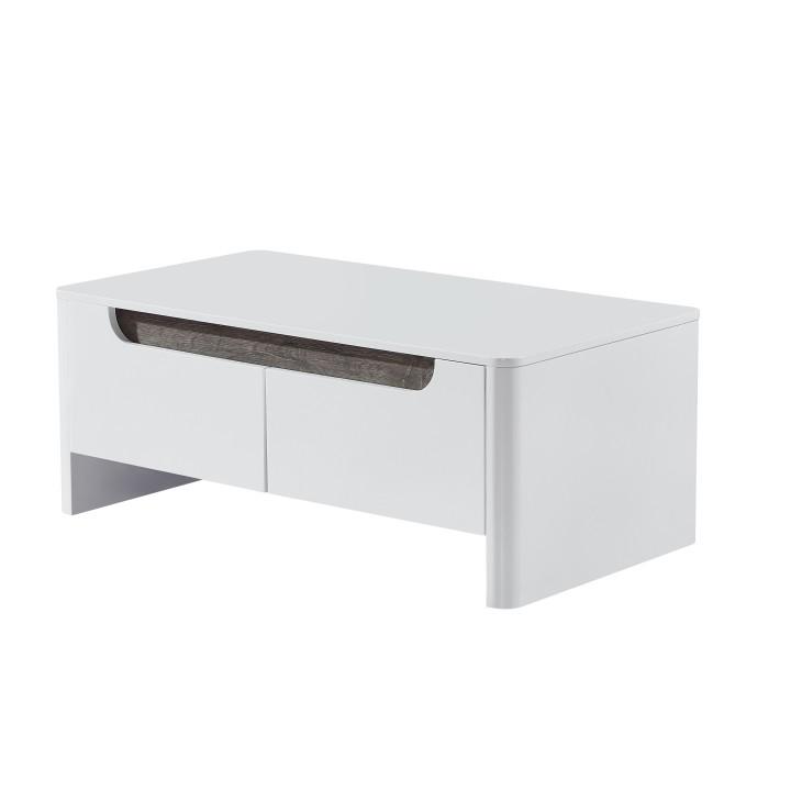 Tempo Kondela Konferenční stolek GARNER - bílá / bílá extra vysoký lesk HG + kupón KONDELA10 na okamžitou slevu 3% (kupón uplatníte v košíku)