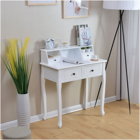 Toaletní stolek / toaletka RODES - bílá