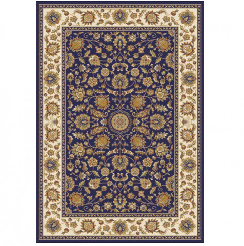 Koberec KENDRA TYP 1, 100x150 - tmavě modrá / mix barev / vzor