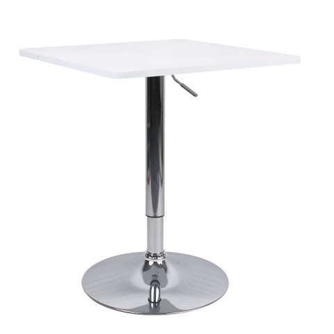 Barový stůl s nastavitelnou výškou, bíla, FLORIAN NEW
