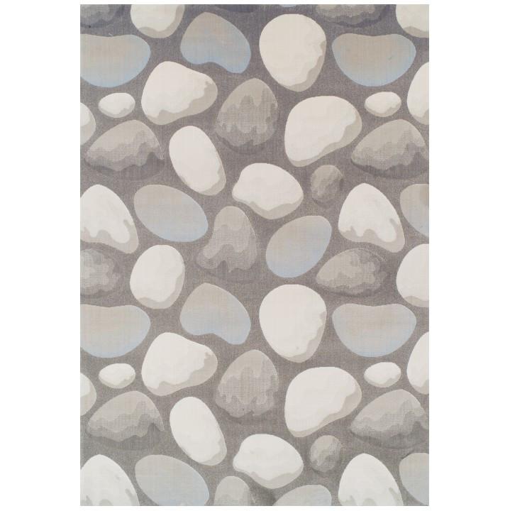 Tempo Kondela Koberec MENG, 133x190 - hnědá/šedá/vzor kameny + kupón KONDELA10 na okamžitou slevu 3% (kupón uplatníte v košíku)