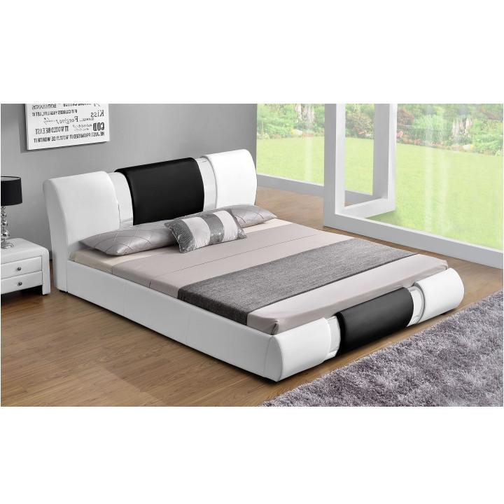 Tempo Kondela Moderní postel LUXOR, 180x200 - bílá / černá + kupón KONDELA10 na okamžitou slevu 3% (kupón uplatníte v košíku)