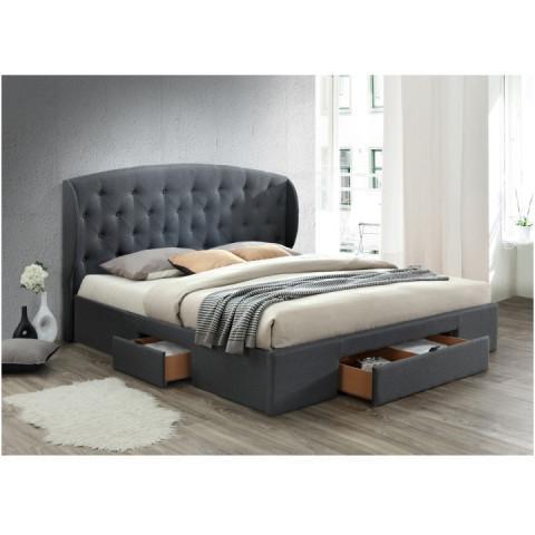 Manželská postel OLINA, 180x200 cm - šedá