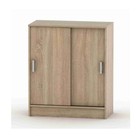 Komoda s posuvnými dveřmi, dub sonoma, BETTY 4 BE04-009-00