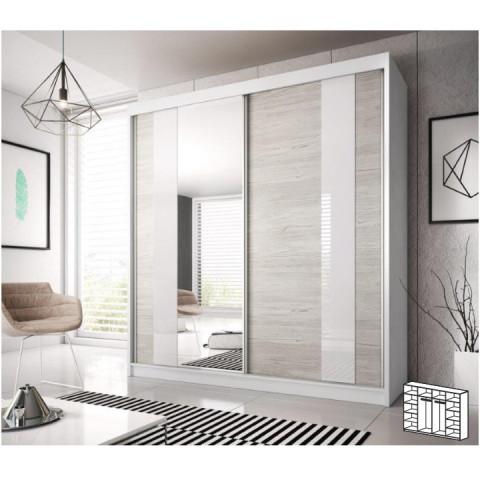 Skříň s posuvnými dveřmi MULTI 32, dub kathult světlý / bílá