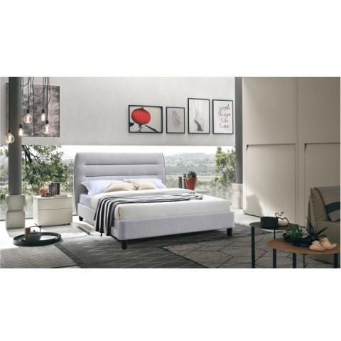 Manželská postel BALDER, 160x200 - šedá