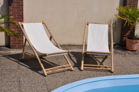 Bambusové lehátko Relax set 2 kusy
