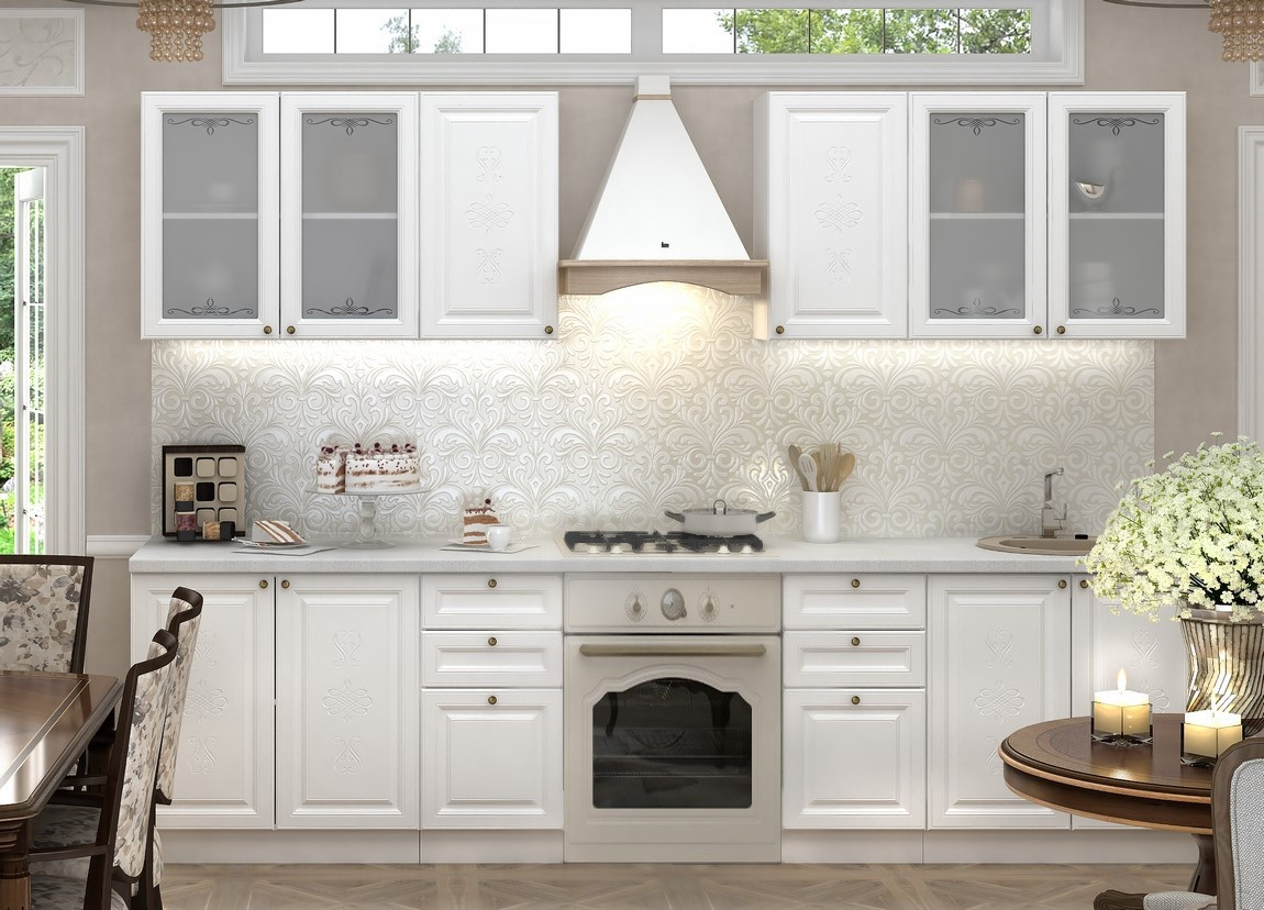 Casarredo Kuchyně VERSAILLES 240 - bílá soft