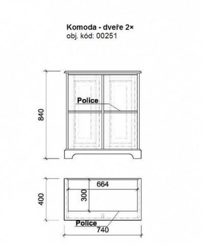 Komoda masiv 00251