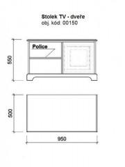 TV stolek masiv 00105