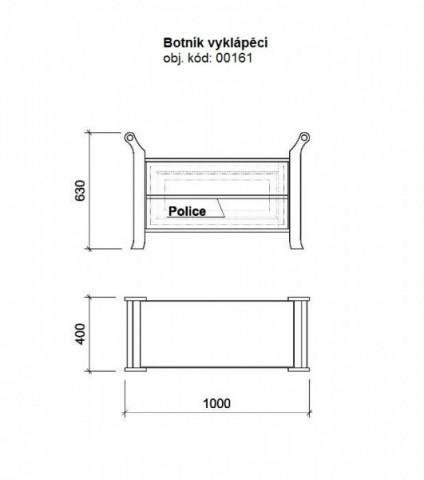 Dřevěný botník 00161