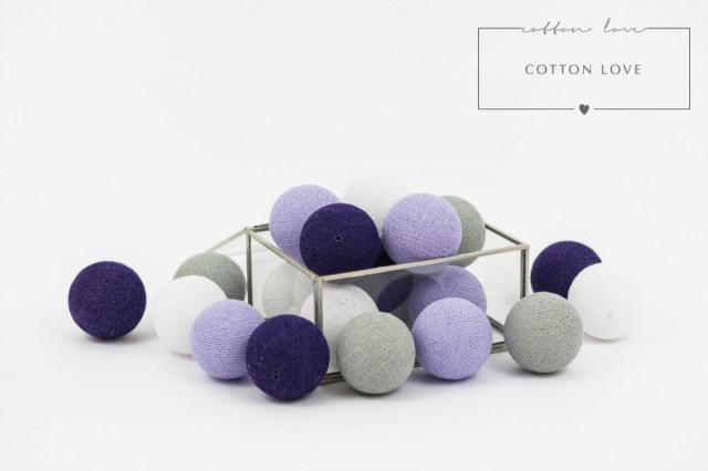 Bavlněné svítící kuličky fialové