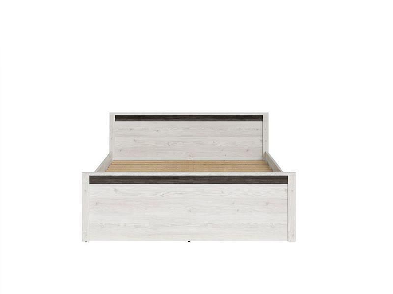 Manželská postel Salins LOZ/160 - Modřín sibiu světlý