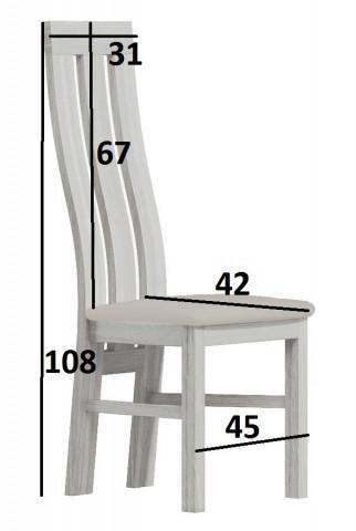 Čalouněná židle II kraft zlatý/Victoria 20