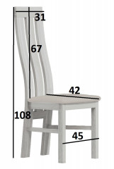 Čalouněná židle II jasan světlý/Victoria 36