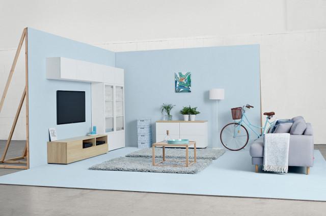 Televizní stolek Modai RTV3D/6/18 - bílá Canadian č.5