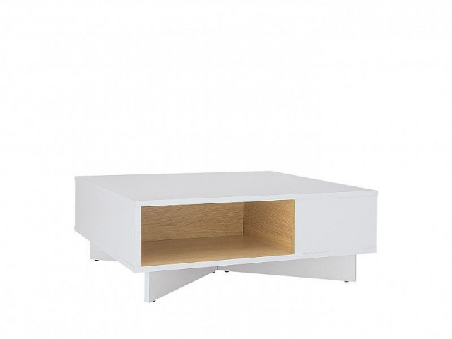 Konferenční Modai stolek LAW/3/8 - bílá Canadian/dub polský č.2