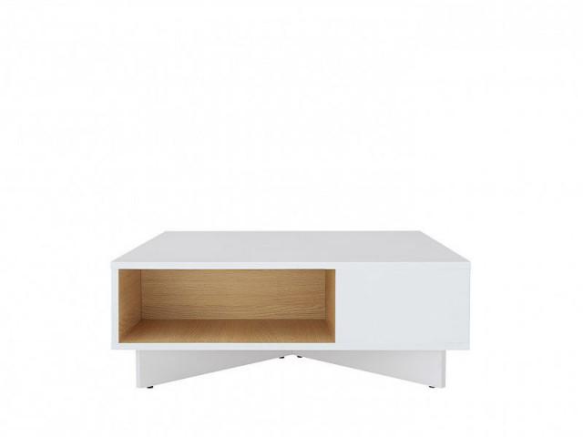 Konferenční Modai stolek LAW/3/8 - bílá Canadian/dub polský č.3