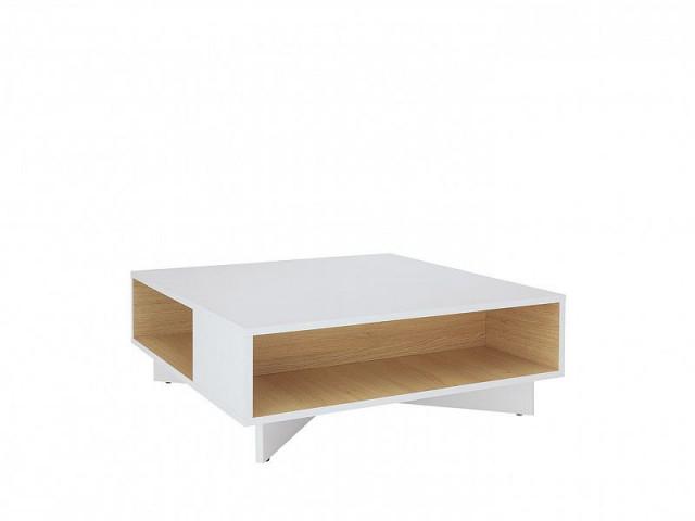Konferenční Modai stolek LAW/3/8 - bílá Canadian/dub polský č.4