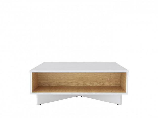 Konferenční Modai stolek LAW/3/8 - bílá Canadian/dub polský č.1