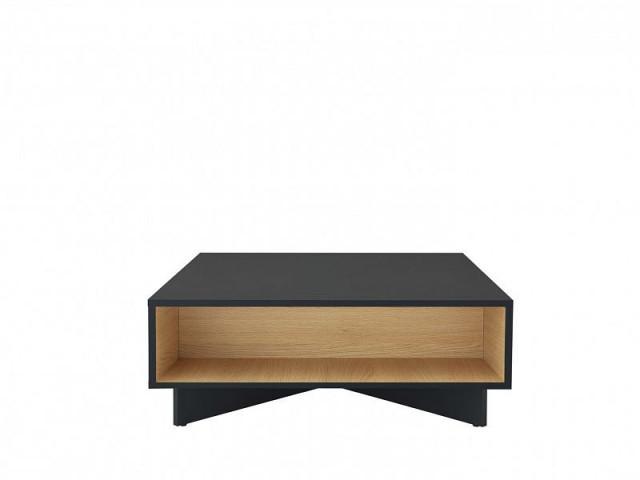 Konferenční stolek Modai LAW/3/8 - černá antracit/dub polský č.1