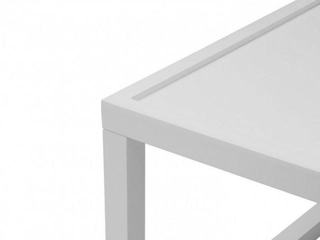 Konferenční stolek Modai LAWA 63 x 63 cm - bílá č.4