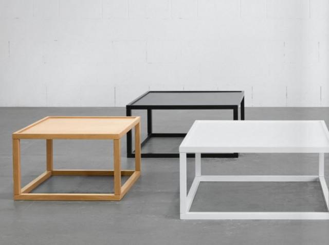 Konferenční stolek Modai LAWA 63 x 63 cm - bílá č.5