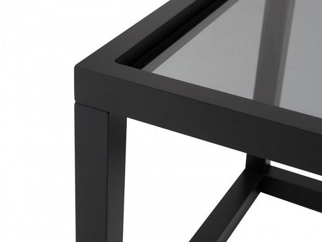 Konferenční stolek Modai LAWA 103 x 53 cm, sklo - černá č.4