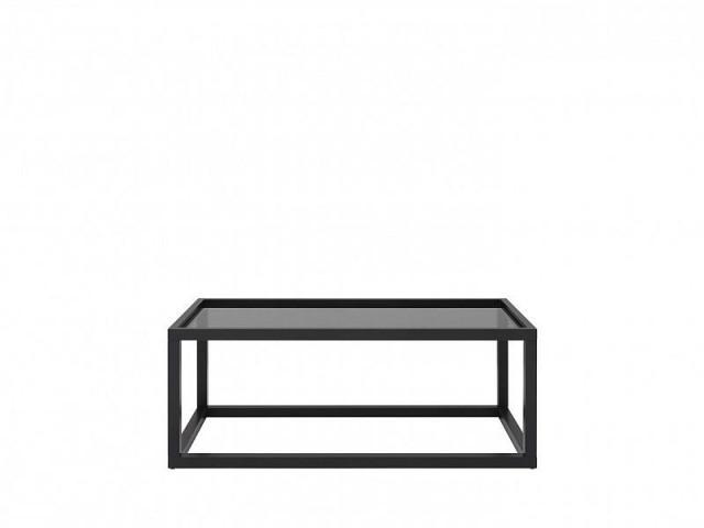 Konferenční stolek Modai LAWA 103 x 53 cm, sklo - černá č.1