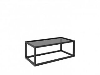 Konferenční stolek Modai LAWA 103 x 53 cm, sklo - černá č.7